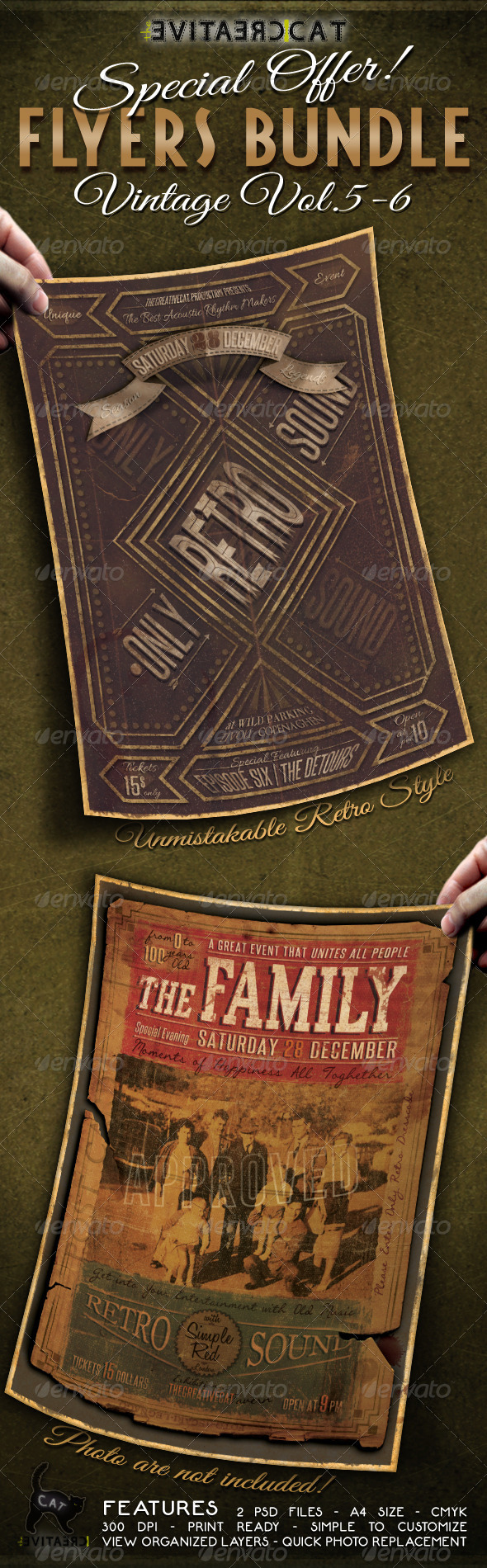 GraphicRiver Vintage Flyer Poster Bundle Vol 5-6 6406390