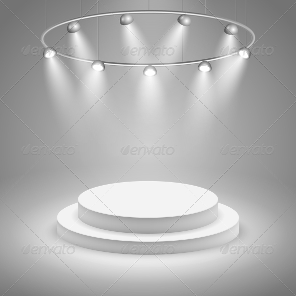GraphicRiver White Stage with Spotlight 6406451