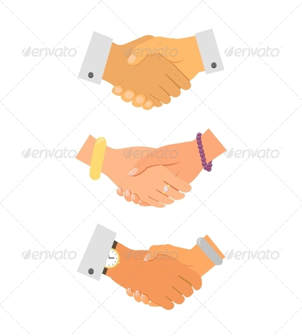 GraphicRiver Business Handshake Iconset 6406452