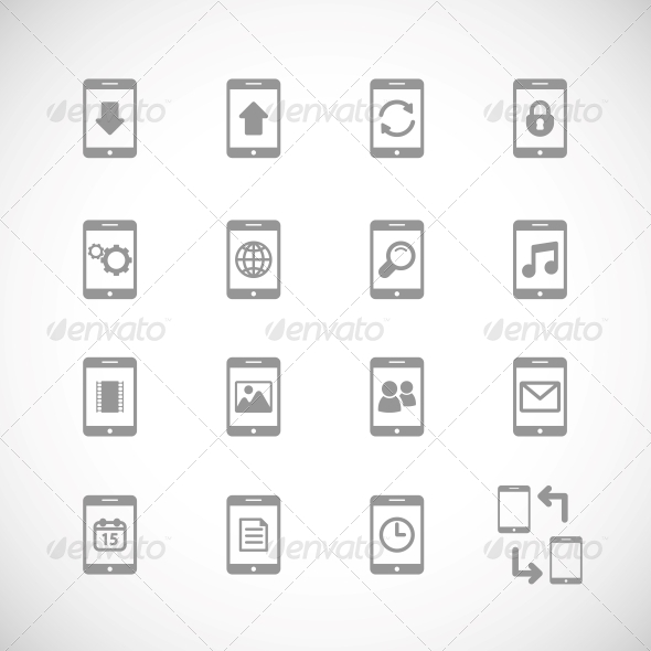 GraphicRiver Online Mobile Applications Iconset 6406462