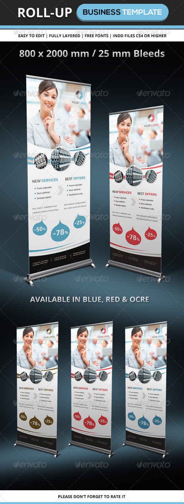 GraphicRiver Corporate & Business Rollup Template 6406632
