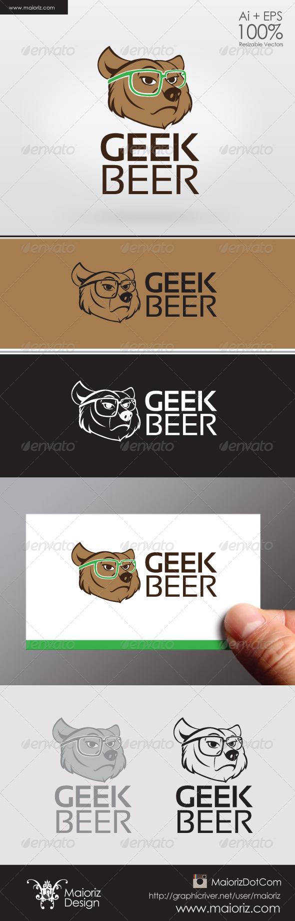 GraphicRiver Geek Beer Logo 6406878