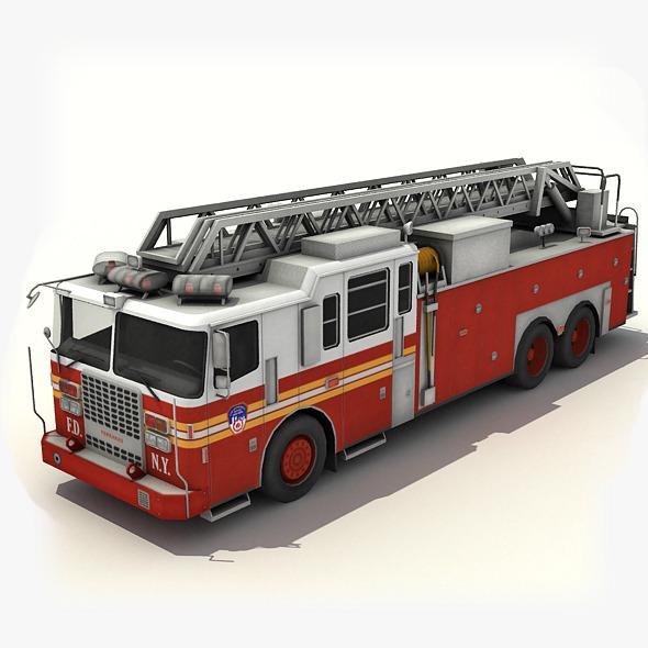 3DOcean Fire Truck 6407111