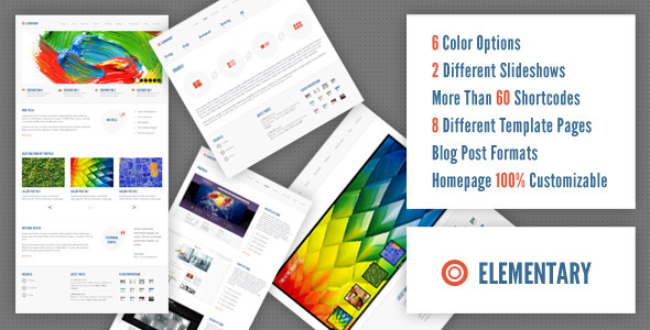 Elementary - WP Theme - Creative WordPress