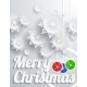 Merry Christmas with Snowflake and Balls - GraphicRiver Item for Sale