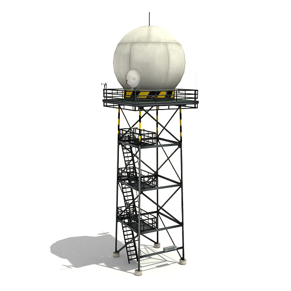 3DOcean Weather Radar Tower 6408217