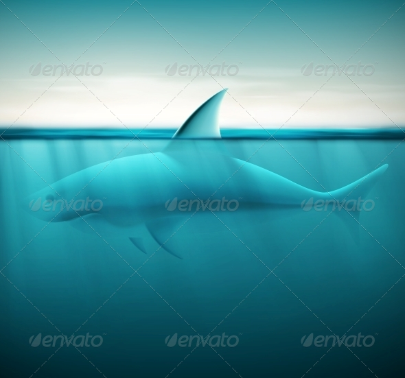 GraphicRiver Shark in Ocean 6408248