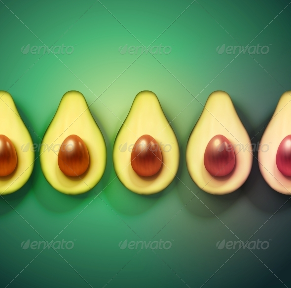 GraphicRiver Background with Avocado 6408262