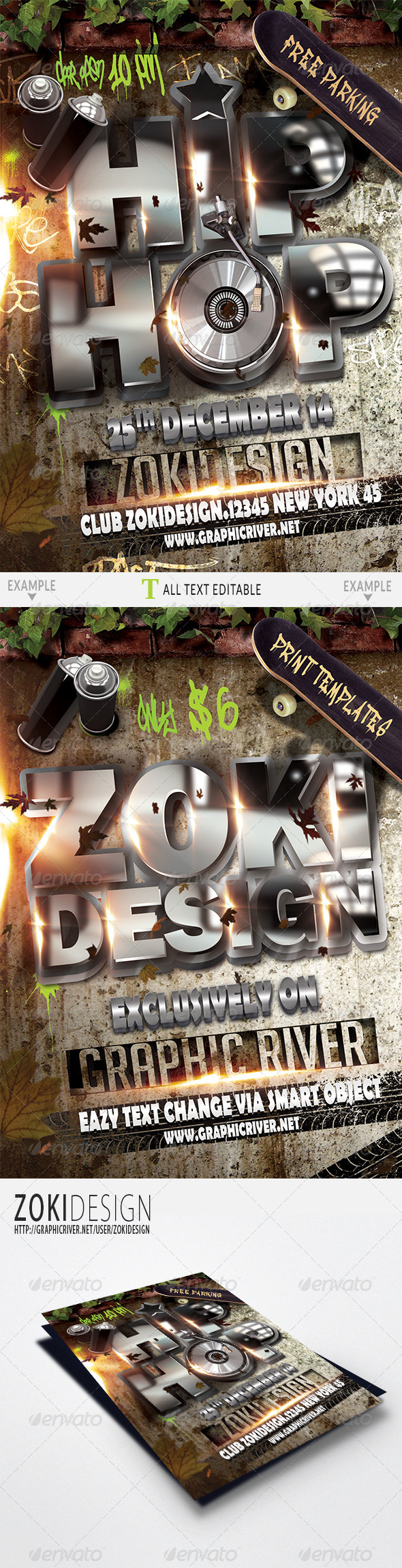 GraphicRiver Hip Hop Flyer 6408968
