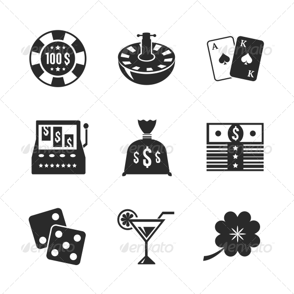 GraphicRiver Casino Icons Set for Design 6409543