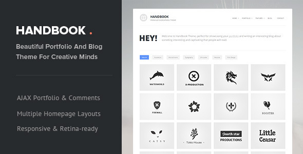 ThemeForest Handbook Responsive AJAX WordPress Theme 6409600