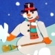 Snowman and Snowballs 2 - Loop Stop Motion  - VideoHive Item for Sale