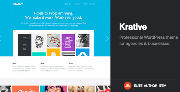 Krative | Responsive Multi-Purpose Business Theme - Business Corporate