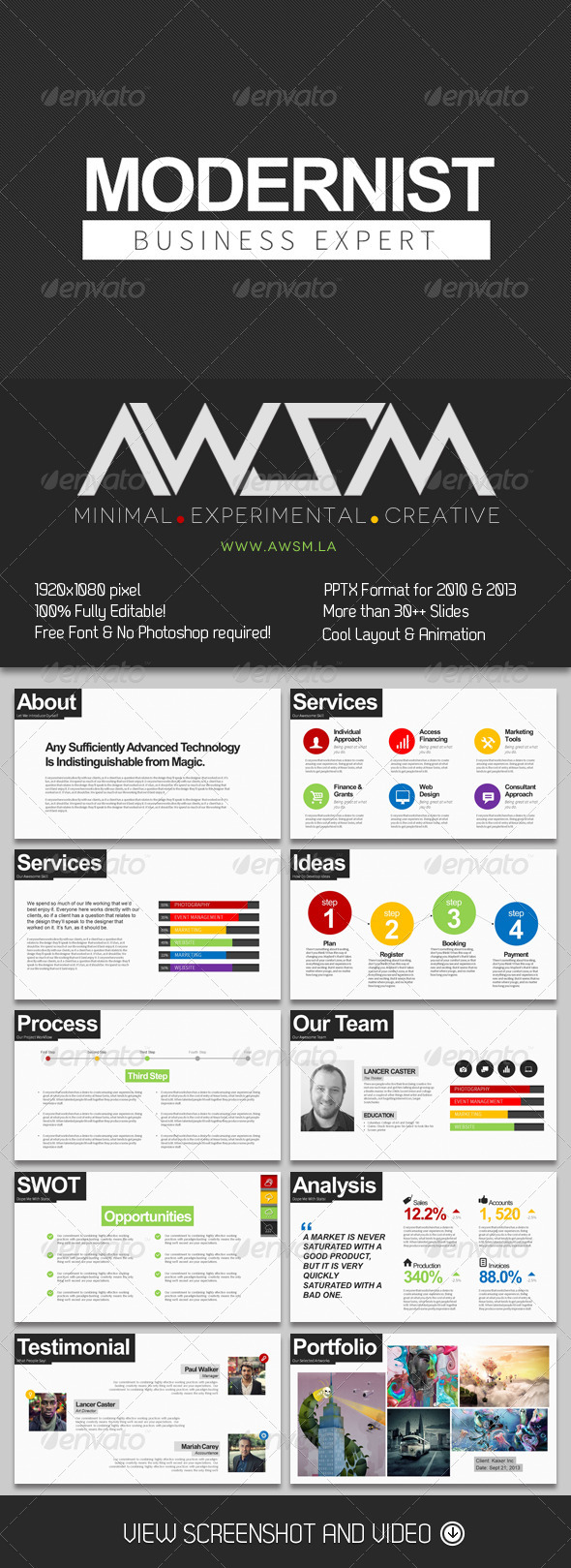 GraphicRiver Modernist PowerPoint Template 6412670