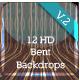 12 UHD Curved Backdrop Scenes V.2 - GraphicRiver Item for Sale