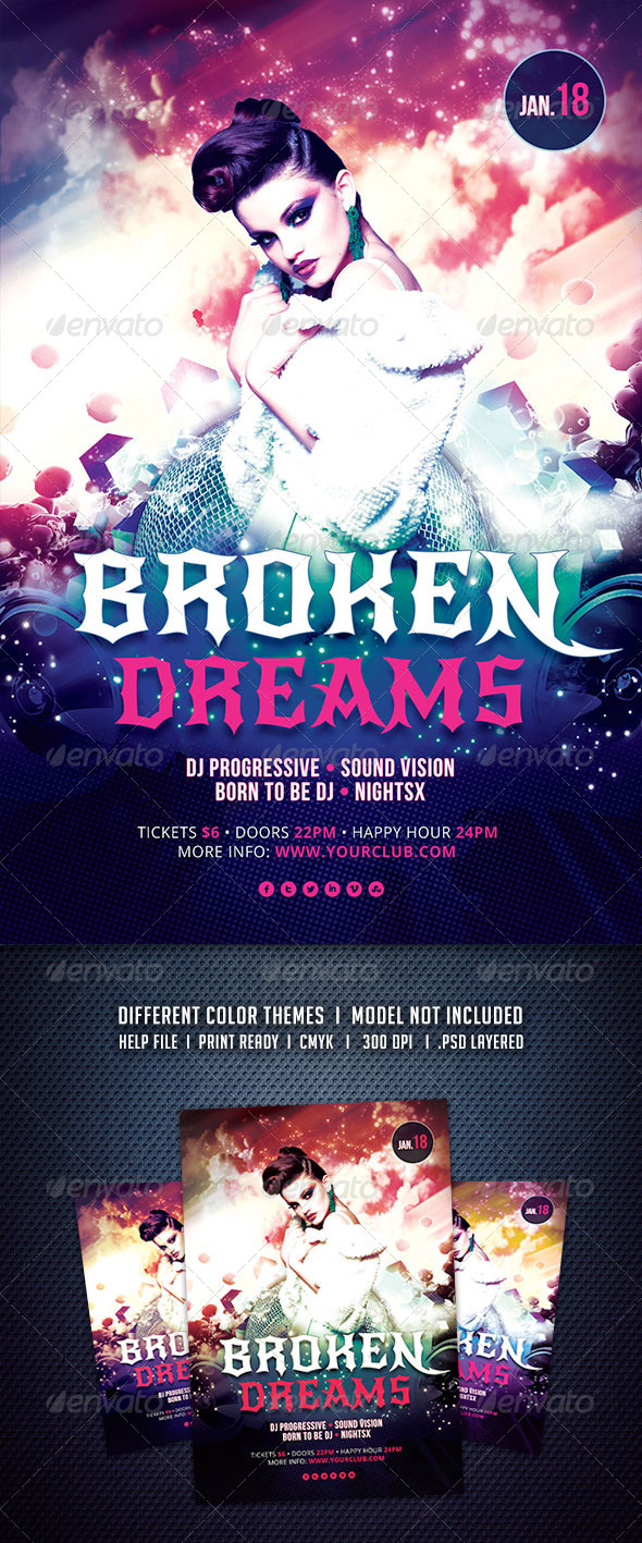 GraphicRiver Broken Dreams Flyer 6376538