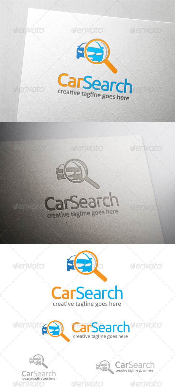 GraphicRiver Car Search Logo 6415025