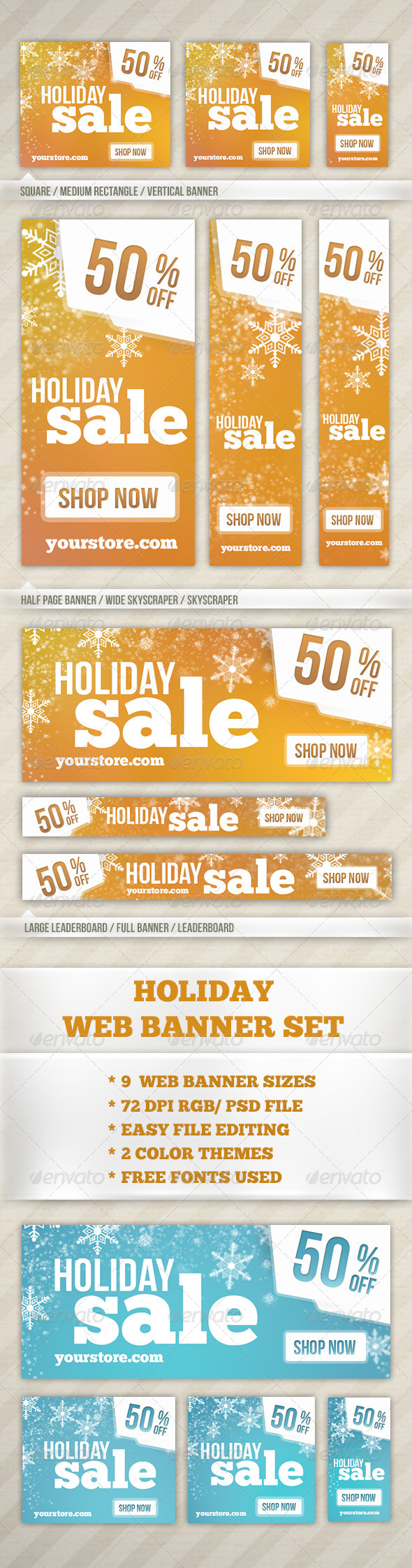 GraphicRiver Holiday Web Banner 6415090