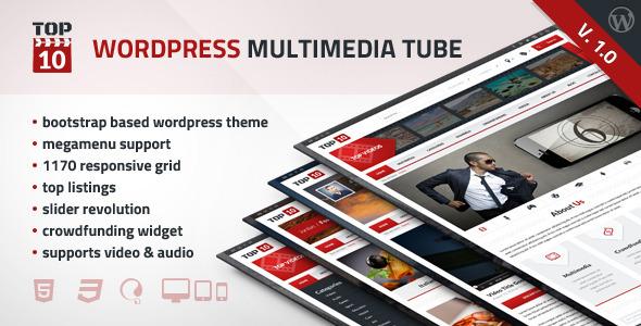 ThemeForest TOP10 Wordpress Multimedia Tube 6246842