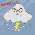 Angry Cloud Lightning With Rain And Text - PhotoDune Item for Sale