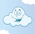 Smiling Cloud Cartoon Character - PhotoDune Item for Sale