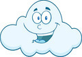 Smiling Cloud Cartoon Mascot Character - PhotoDune Item for Sale
