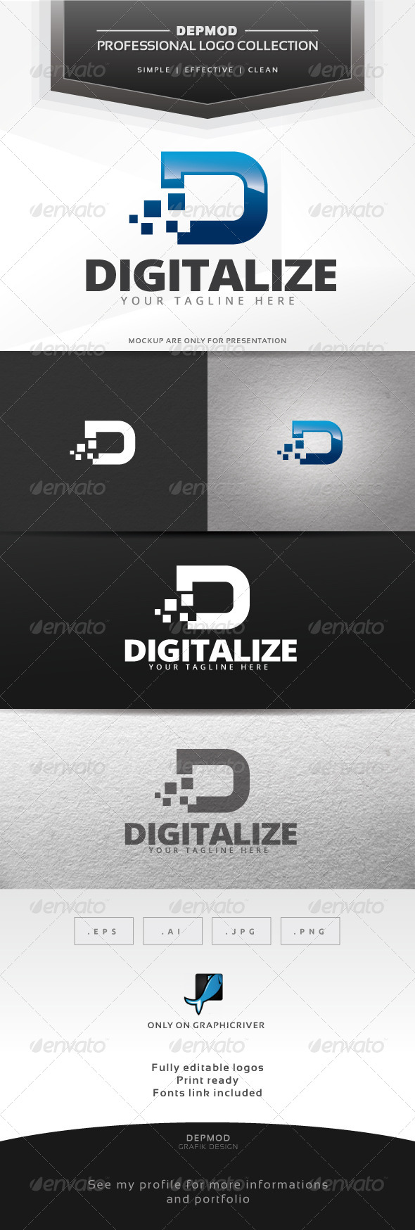 GraphicRiver Digitalize Logo 6416021
