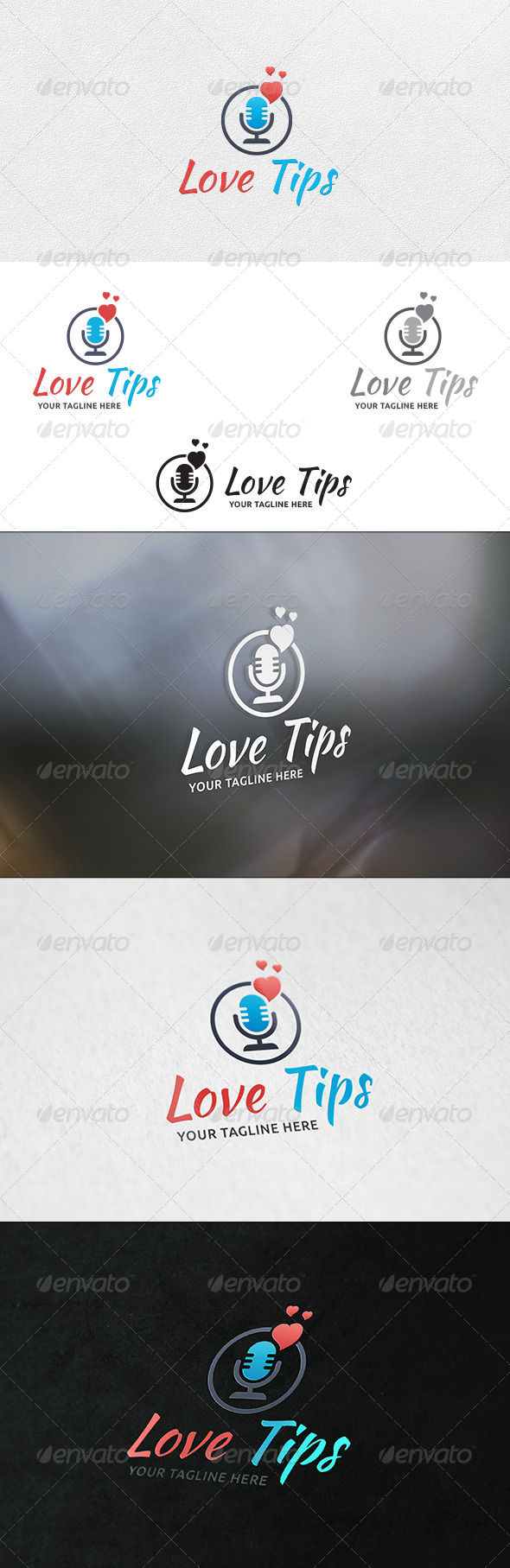 GraphicRiver Love Talk Logo Template 6416091