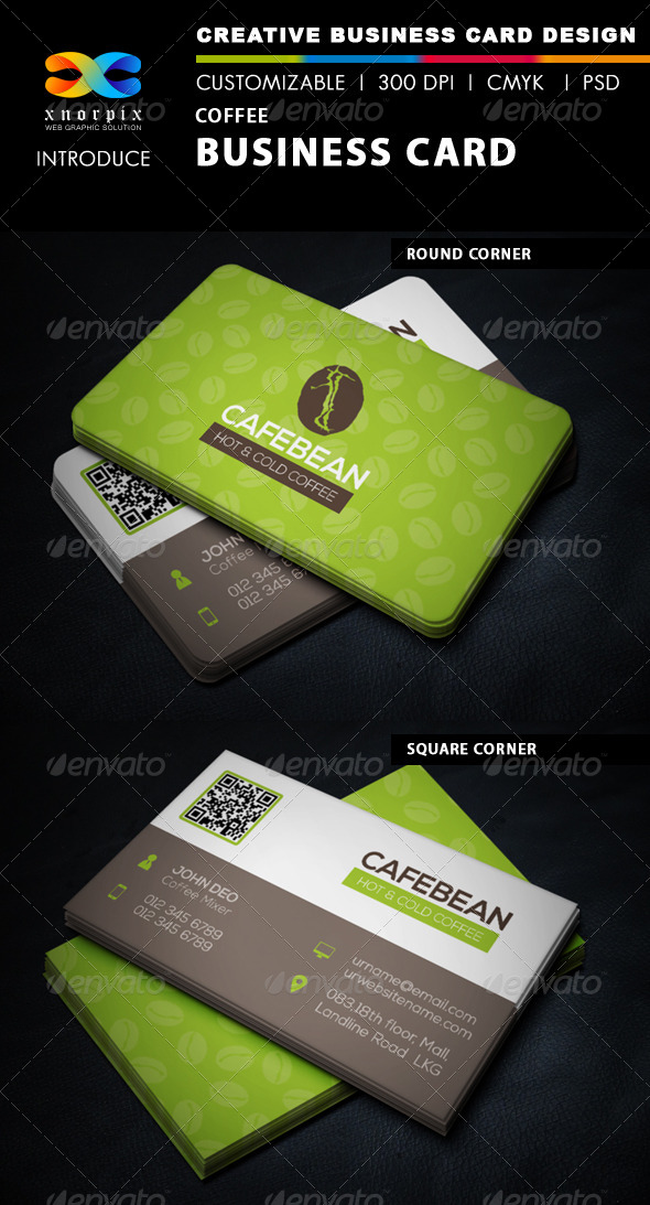 GraphicRiver Coffee Business Card 6416769