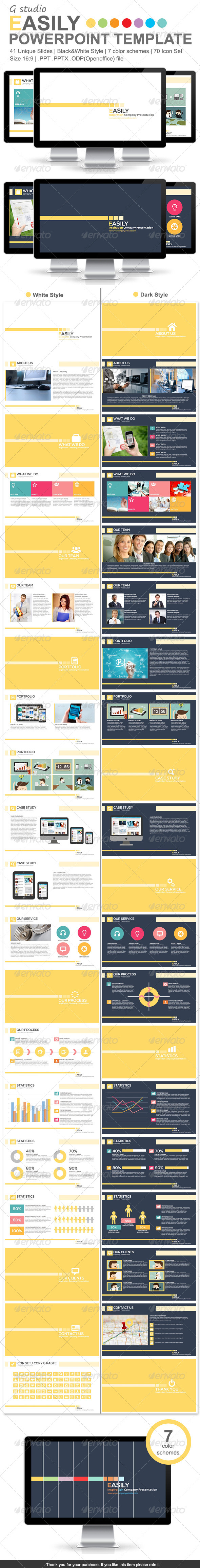 GraphicRiver Gstudio Easily Powerpoint Template 6416770