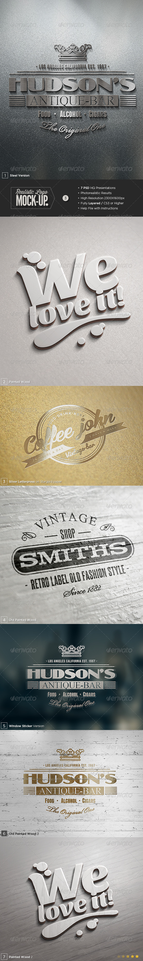 GraphicRiver Logo Mock-Up Set 3 6417984