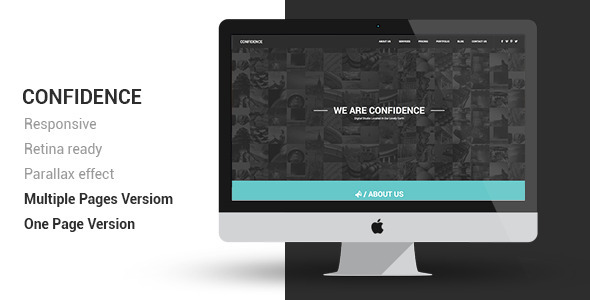 preview.  large preview Confidence Multipurpose Retina Ready Template (Creative)