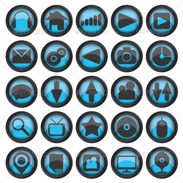 GraphicRiver Set of Web Glass Icons 6418165