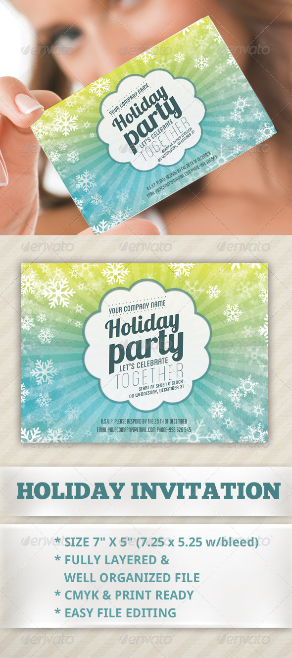 GraphicRiver Holiday Invitation Card 6371110