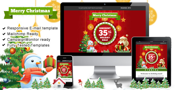 Happy Holiday  – Responsive Email Templates