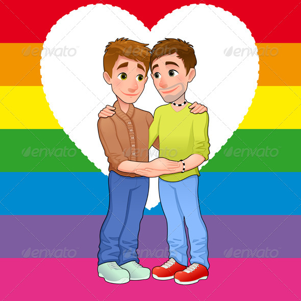 GraphicRiver Born this way Young Men in Love 6418593
