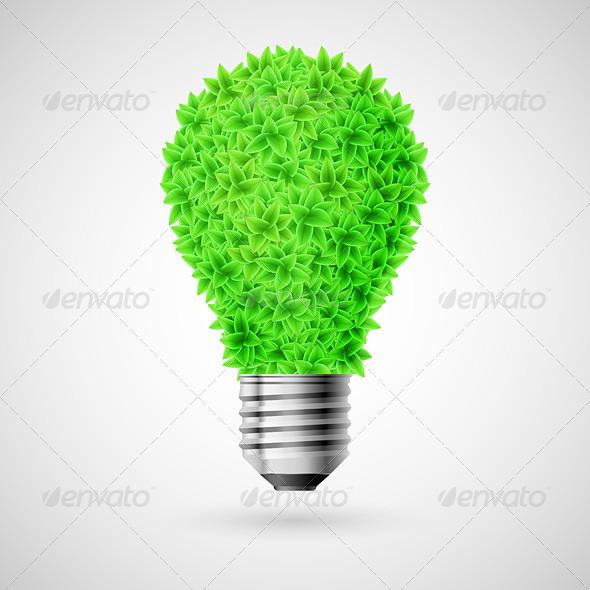 GraphicRiver Green Bulb 6418757