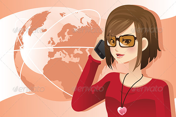 GraphicRiver Woman on the Phone 6419441