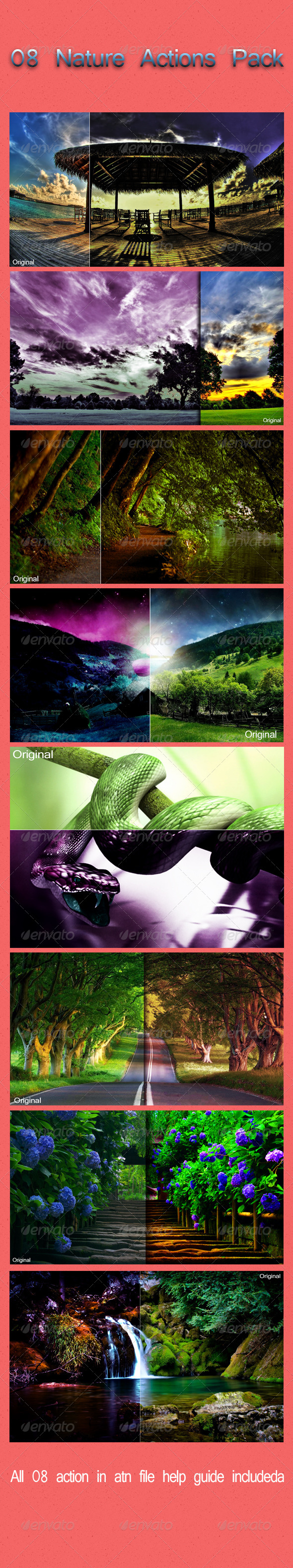 GraphicRiver 08 Nature Actions Pack 6419492