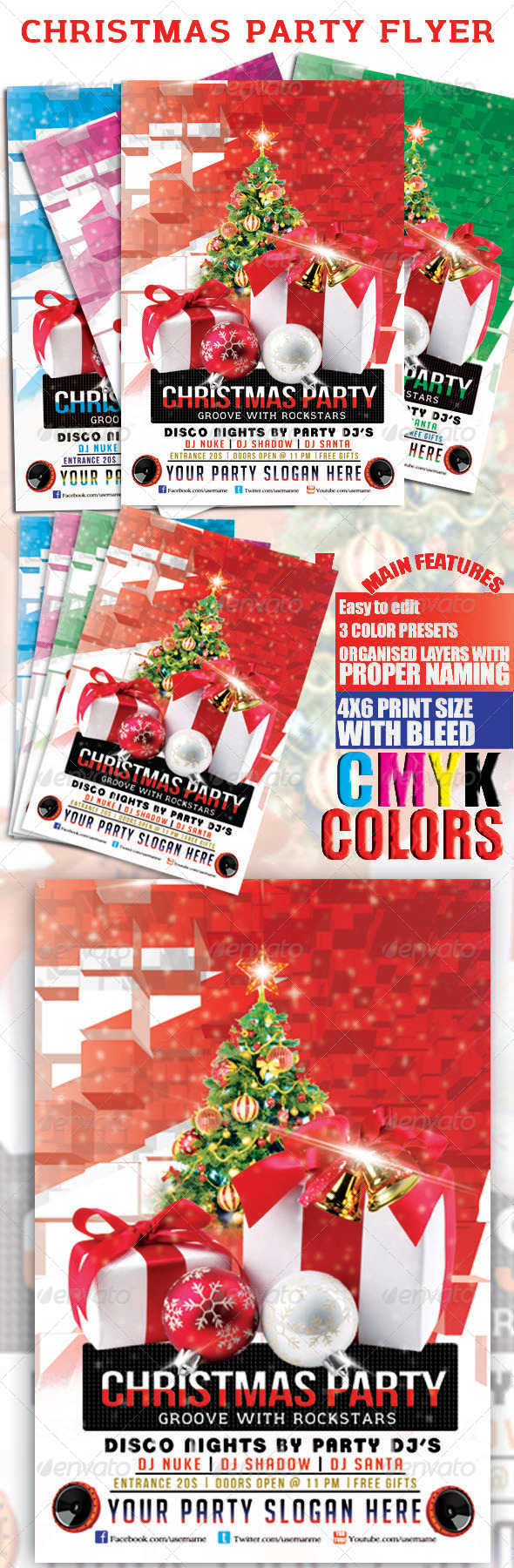 GraphicRiver Christmas Party Flyer 6419673