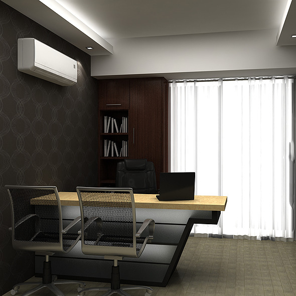 3d models realistic md room 3docean for Director office room design
