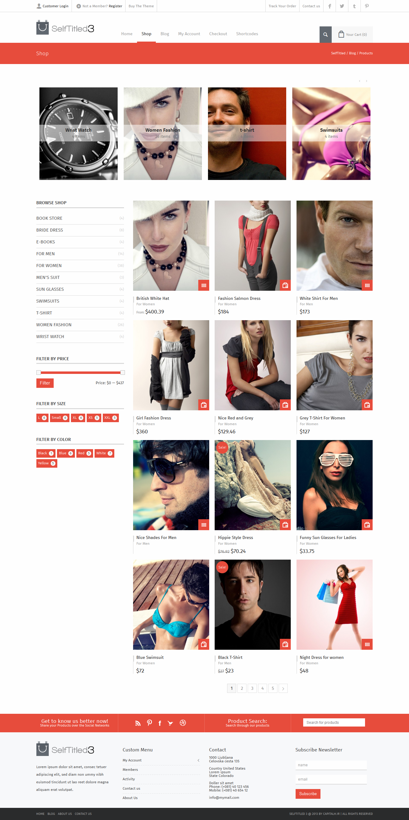 SelfTitled__Drag&Drop Widget Based WordPress Theme