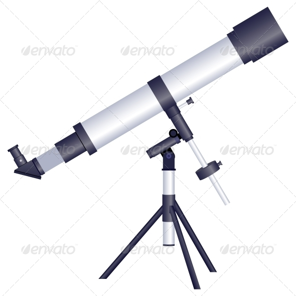 GraphicRiver Telescope on a White Background 6420483