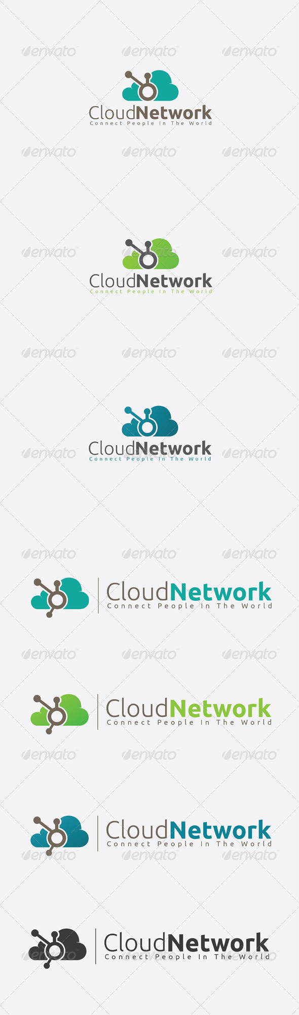 GraphicRiver Cloud Network Logo Template 6420509