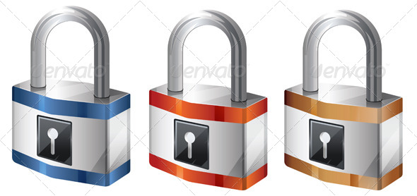 GraphicRiver Lock Illustration 6420527