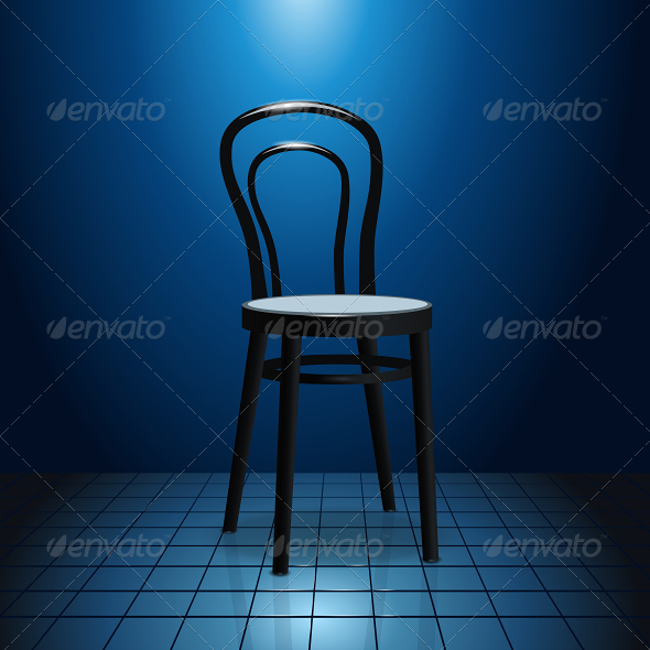 GraphicRiver Vacant Chair on Stage 6420849