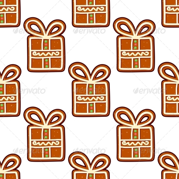 GraphicRiver Gingerbread Presents Seamless Pattern 6420888