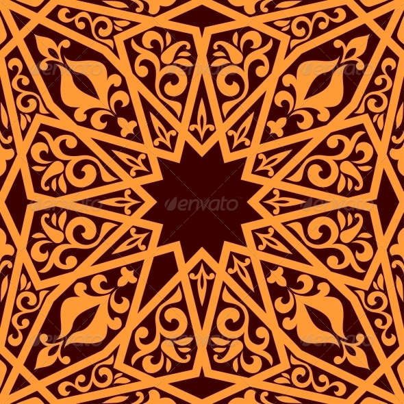 GraphicRiver Arabic Seamless Pattern with Geometric Elements 6420892