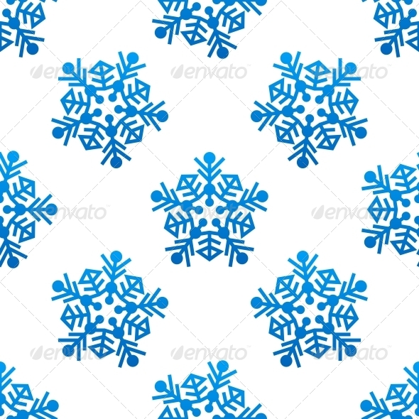 GraphicRiver Crystal and snowflakes Seamless Pattern Background 6421127