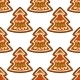Gingerbread New Year Tree Seamless Pattern - GraphicRiver Item for Sale